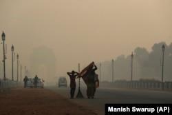 Ndotja e lartë e ajrit në Nju Delhi