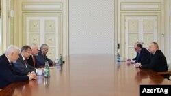 Президент Азербайджана Ильхам Алиев принимает сопредседателей Минской группы ОБСЕ по Нагорному Карабаху