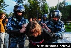 Задержания в Москве 10 августа