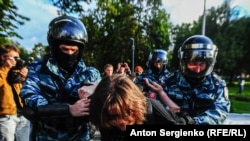 10 августа 2019 года, задержания в Москве