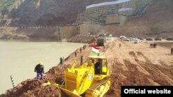 Стройплощадка Рогунской ГЭС