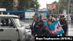 Задержание участников акции 9 сентября в Томске