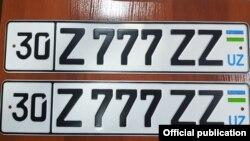 4 января автомобильный номер 30 Z 777 ZZ был продан на интернет-аукционе в Самарканде за 57 тысяч сумов.
