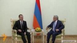 ՌԴ վարչապետի հետ հանդիպմանը Սերժ Սարգսյանը անդրադարձել է Ադրբեջանին զենք վաճառելու հարցին