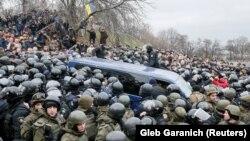 Саакашвилини кармоо аракети, Киев, 5-декабрь.