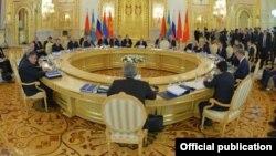 Еуразия экономикалық одағы саммиті. Мәскеу. 23 желтоқсан 2014 жыл. (Көрнекі сурет)