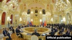 Саммит Евразийского экономического союза в Москве, 23 декабря 2014 года.