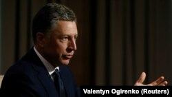 Курт Волкер во время интервью агентству Reuters в Киеве 28 октября 2017 года.