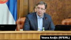 Српскиот премиер Александар Вучиќ