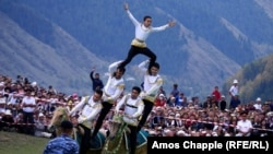 На Всемирных играх кочевников в Кыргызстане.