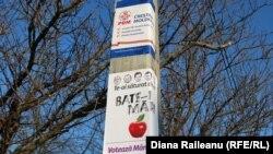 Afişaj electoral la Budeşti