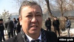 Начальник отдела по борьбе с контрабандой департамента таможенного контроля Алматы Айдар Айтенов. Алматы, 12 марта 2014 года.
