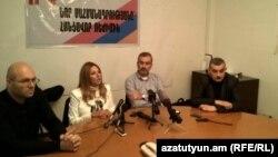 Первая пресс-конференция оппозиционного фронта общественного спасения «Новая Армения», Ереван, 29 октября 2015 г.