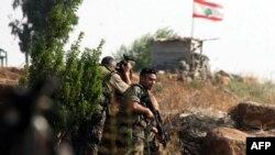Ліванські солдати на кордоні з Ізраїлем
