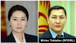 Индира Жолдубаева жана Абдил Сегизбаев.