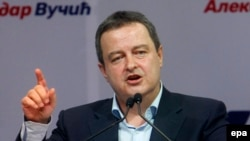 "Serbian Foreign Minister Ivica Dacic proposes a solution to what he calls Serbia's ""centennial problem."""
