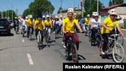 Жалал-Абаддагы веложүрүш.