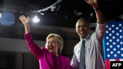 Barack Obama və Hillary Clinton Şimali Karolinada