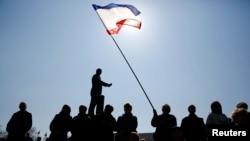 تظاهراتی در هواداری از روسیه در شبهجزیره کریمه اوکراین