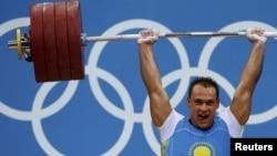 Kazakhstan's Ilya Ilyin set two new world records in weightlifting.