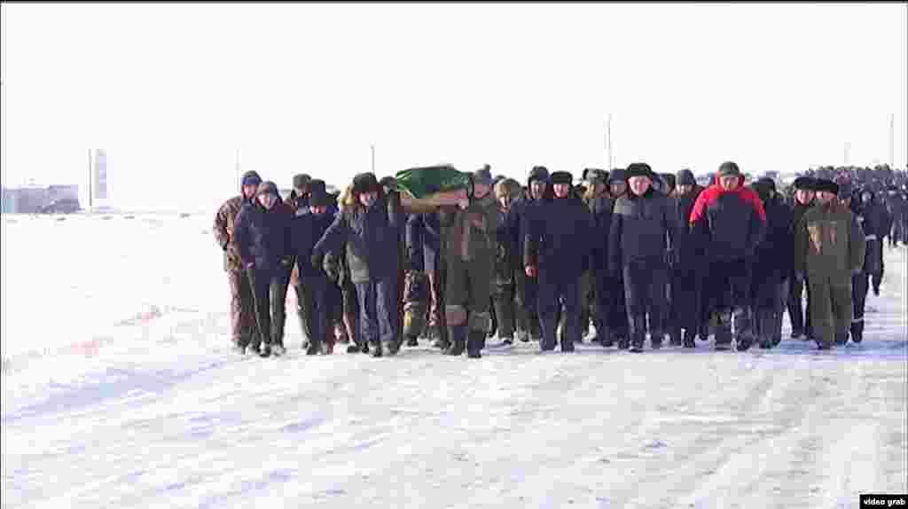 Ерлана Нургалиева похоронили 17 января в родном селе Баршино Нуринского района Карагандинской области.