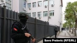 Здание суда в Подгорице находится под охраной спецподразделения полиции