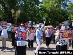Орхан Инандыны талап еткен митинг. Бішкек, 3 маусым 2021 жыл.