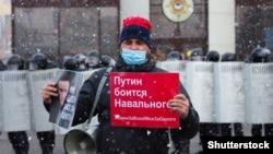 Rus protestçis. Barnaul, 21-nji aprel, 2021