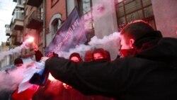 «Погром» у приміщенні «Росспівробітництва» в Києві (відео)