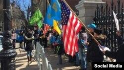 Protesta para ambasadës ruse në New York, 2015