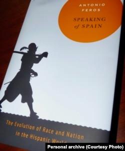 """Naslovna strana knjige """"Govoreći o Španiji - evolucija rase i nacije u hispano svijetu"""""""