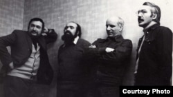 Фридрих Горенштейн, Евгений Попов, Виктор Тростников, Андрей Битов. Москва, 1980