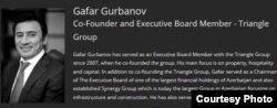 Gafar Gurbanov, Ciaba Ltd. ofşor şirkətin meneceri.