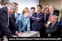 Pamje nga samiti i G7-ës në Kanada.