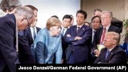 Liderët e shtatë vendeve më të industrializuara gjatë samitit të G7-ës në Kanada. (foto arkiv 2018)