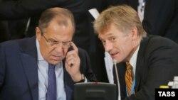 Сергей Лавров и Дмитрий Песков. Архивное фото