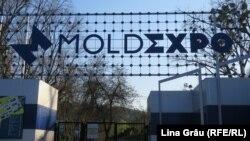 Chișinău: parcul expozițional Moldexpo, unde este amenajat un centru de triere pentru bolnavii de Covid-19, 3 aprilie 2020