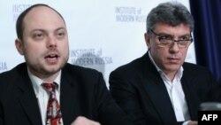 Владимир Кара-Мурза и Борис Немцов. 2014 год