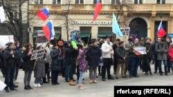 Акция Алексея Навального в Праге