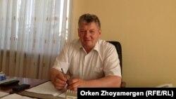 Ақкөл ауданы әкімінің орынбасары Анатолий Кривецкий. Ақмола облысы, 17 маусым 2013 жыл.