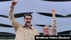 претседателот на Венецуела Николас Мадуро и неговата сопруга Силија Флорес