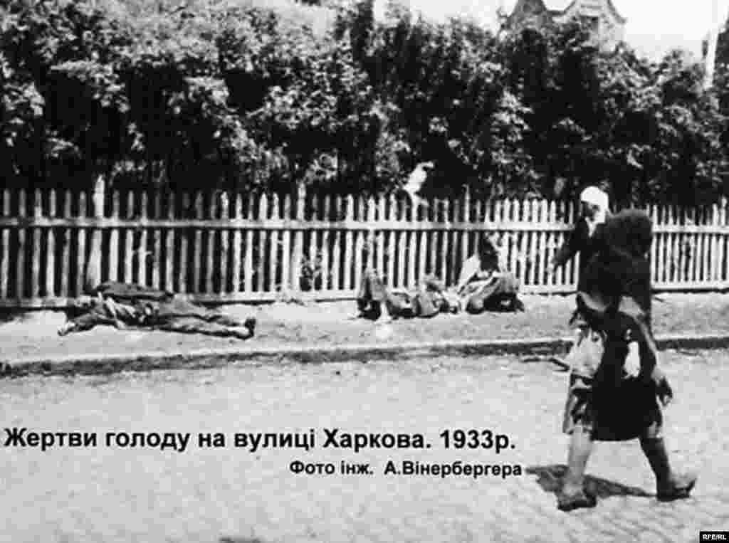Жертви голоду на вулиці Харкова, 1933 р. Фото інж. А. Вінерберга - Голодомор, голод, 1933