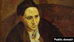 Xanım Gertrude Stein. Müəllif: Pablo Picasso (1905-06)