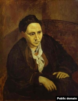 Pablo Picassonun Fransadaykən çəkdiyi amerika romançısı Gertrude Stein, 1905.