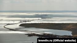 Строительство Крымского моста, архивное фото