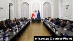 Встреча с сопредседателями Женевских дискуссий в МИД Грузии, 19 ноября 2019 г.