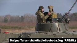 Українські військові на Яворівському полігоні