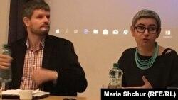 Соціологи Ондржей Кліпа та Катержина Кралова на семінарі «Кримські татари: минуле і майбутнє корінного народу»