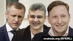 Аляксей Янукевіч, Юры Губарэвіч і Андрэй Дзьмітрыеў
