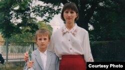 Лариса Кольченко з сином